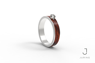 Prstene - Zásnubný slim PALISANDER - 9804658_