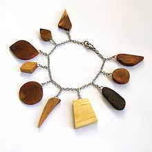 Náramky - Retiazkový náramok s drievkami - 9805236_