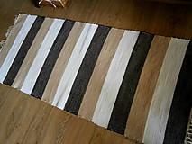 Úžitkový textil - koberec pasikavy - 9807581_