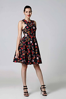 Šaty - Šaty bavlnané so vzorom - 9806064_