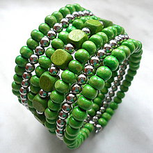 Náramky - Náramok (zelená) - 9808371_