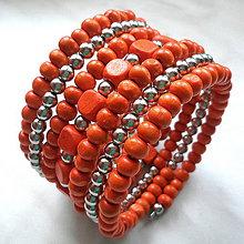 Náramky - Náramok (oranžová) - 9808372_