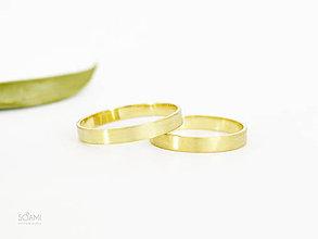 Prstene - 585/14k zlaté snubné prstene , obrúčky - 9808297_