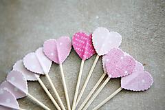 - Candy bar - napichovátka (zápich) - ružové - 9808523_