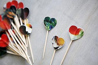 Dekorácie - Candy bar - napichovátka (zápich) - akvarel - 9808479_