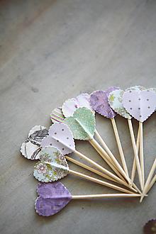 Dekorácie - Candy bar - napichovátka (zápich) - fialové - 9808514_