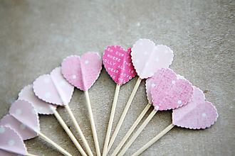 Dekorácie - Candy bar - napichovátka (zápich) - ružové - 9808523_