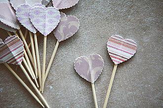 Dekorácie - Candy bar - napichovátka (zápich) - púdrové - 9808538_