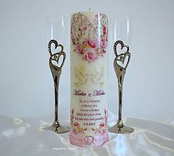 Svietidlá a sviečky - Svadobná sviečka - 9807153_