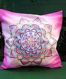 Úžitkový textil - Vankúšik - ružová láska - 9807757_