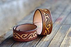 Náramky - Kožený náramok Ornament - 9808079_