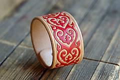 Náramky - Kožený náramok Ornament - 9808142_
