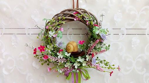 Veniec na dvere so slimákom   kiflike - SAShE.sk - Handmade Dekorácie f2a86df1488