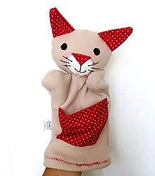 Hračky - Maňuška mačka - Mačička z Červeného pelieška - 9808294_