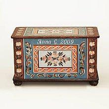 Nábytok - Maľovaná truhlica (rôzne veľkosti) - 9806215_