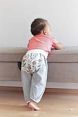 "Detské oblečenie - Plátené nohavice ""medvedík čistotný"" - 9808797_"