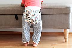 "Detské oblečenie - Plátené nohavice ""medvedík čistotný"" - 9808798_"