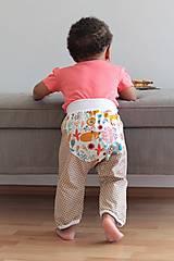 """Detské oblečenie - Plátené nohavice """"snívajúca líška"""" - 9808799_"""