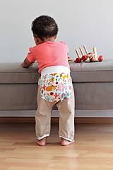 """Detské oblečenie - Plátené nohavice """"snívajúca líška"""" - 9808800_"""