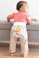 """Detské oblečenie - Plátené nohavice """"snívajúca líška"""" - 9808801_"""