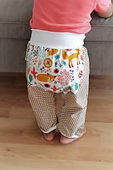 """Detské oblečenie - Plátené nohavice """"snívajúca líška"""" - 9808802_"""