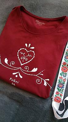 Tričká - Červené tričko srdiečko - 9806176_