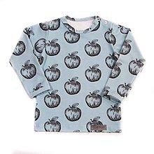 Detské oblečenie - Tričko - Apples dusty blue - 9807322_