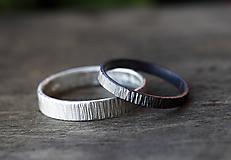 Prstene - Obrúčky z kôry, strieborné - 9806582_