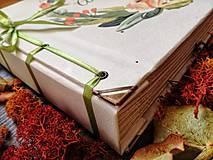 Papiernictvo - Fotoalbum klasický, papierový obal so štruktúrou plátna a ľubovoľnou potlačou (Fotoalbum klasický, papierový obal so štruktúrou plátna a  potlačou kvetinového venčeka) - 9807222_