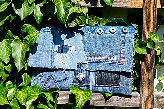 Iné tašky - Listovka Rifľovka do ruky zo série Zero Waste bez odpadu - 9807059_