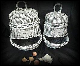 Košíky - Zásobník na cibuľu a cesnak - 9806168_