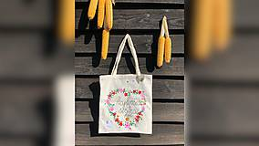 Nákupné tašky - ♥ Plátená, ručne maľovaná taška ♥ (MI18) - 9807638_