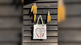 Nákupné tašky - ♥ Plátená, ručne maľovaná taška ♥ (MI18) - 9807641_