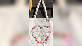 Nákupné tašky - ♥ Plátená, ručne maľovaná taška ♥ (MI18) - 9807642_