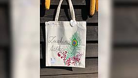Nákupné tašky - ♥ Plátená, ručne maľovaná taška ♥ - 9807737_