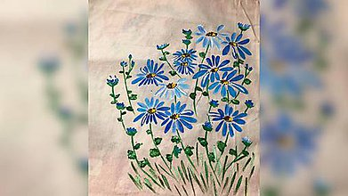 Iné tašky - ♥ Plátená, ručne maľovaná taška ♥ - 9807371_