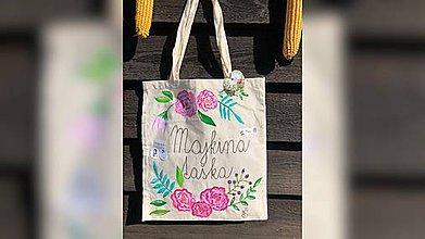 Iné tašky - ♥ Plátená, ručne maľovaná taška ♥ - 9807453_
