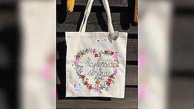 Nákupné tašky - ♥ Plátená, ručne maľovaná taška ♥ (MI18) - 9807636_