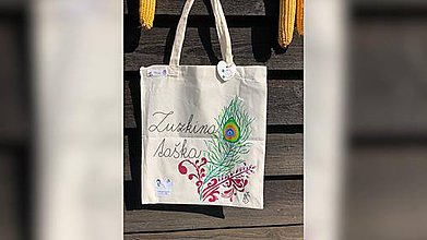 Iné tašky - ♥ Plátená, ručne maľovaná taška ♥ - 9807737_