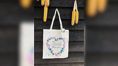 Iné tašky - ♥ Plátená, ručne maľovaná taška ♥ - 9807809_