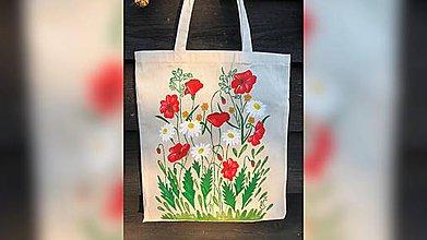 Iné tašky - ♥ Plátená, ručne maľovaná taška ♥ - 9808208_