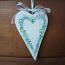 Dekorácie - Vysoké srdce (Modrá) - 9808649_