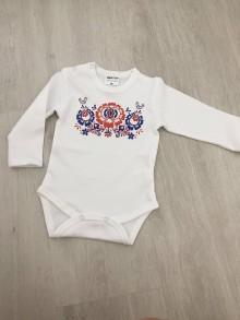 Tehotenské oblečenie - Krásne jedinečné detské body ľudové - 9807690_