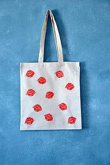 Veľké tašky - taška, pusinky, maľba - 9807105_