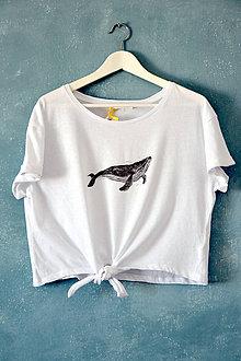Tričká - tričko, veľryba, dámske - 9807174_