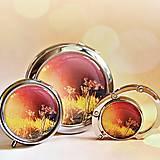 Zrkadielka - sada Podvečerná atmosféra-zrkadielko, háčik na kabelku, krabička - 9807183_