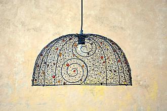 Svietidlá a sviečky - Pán. Velký drátovaný lustr. - 9811380_