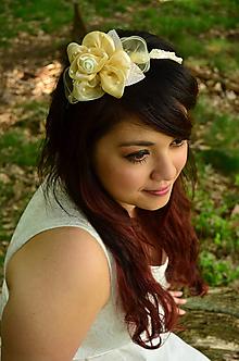 Ozdoby do vlasov - VÝPREDAJ! Svadobná čelenka Ivory Rose - 9809355_