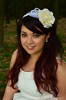 Ozdoby do vlasov - VÝPREDAJ! Svadobná čelenka Ivory Rose - 9809369_