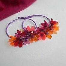 Náušnice - fialové kruhy - 9810990_